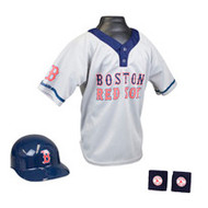 Boston Red Sox Franklin Youth MLB Kids Team Helmet, Jersey & Wristband Set