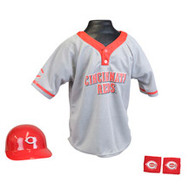 Cincinnati Reds Franklin Youth MLB Kids Team Helmet, Jersey & Wristband Set