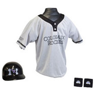 Colorado Rockies Franklin Youth MLB Kids Team Helmet, Jersey & Wristband Set