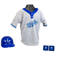 Kansas City Royals Franklin Youth MLB Kids Team Helmet, Jersey & Wristband Set