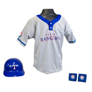 Texas Rangers Franklin Youth MLB Kids Team Helmet, Jersey & Wristband Set