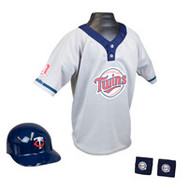Minnesota Twins Franklin Youth MLB Kids Team Helmet, Jersey & Wristband Set