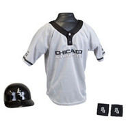 Chicago White Sox Franklin Youth MLB Kids Team Helmet, Jersey & Wristband Set
