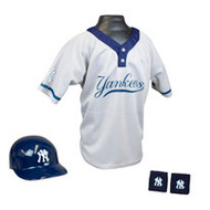 New York Yankees Franklin Youth MLB Kids Team Helmet, Jersey & Wristband Set