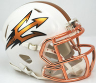 Arizona State Sun Devils White Desert Fuel Riddell NCAA Replica Revolution SPEED Mini Helmet