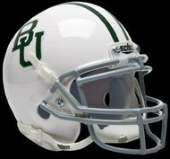 Baylor Bears Alternate White w/ Green Stripes Schutt NCAA College Football Authentic Team Mini Helmet