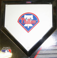 "Philadelphia Phillies Schutt MLB Baseball Team Logo 10""x10"" Mini Home Plate"