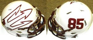 Arizona State Sun Devils #85 White Big Fork Riddell NCAA Revolution Speed Mini Helmet