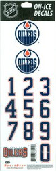Edmonton Oilers Sportstar Officially Licensed Authentic Center Ice NHL Hockey Helmet Decal Kit #2