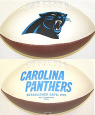 Carolina Panthers Rawlings Jarden Sports Signature NFL Full Size Fotoball Football Current Version - BLOWN UP with BOX & PEN