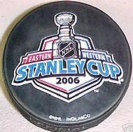 2006 NHL Stanley Cup Logo Hockey Puck Carolina Hurricanes vs. Edmonton Oilers
