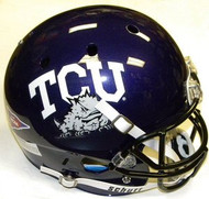 TCU Texas Christian Horned Frogs Schutt NCAA College Football Team Full Size Replica XP Helmet