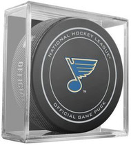 St. Louis Blues NHL Team Sher-Wood Official Ice Hockey Game Puck - Current Logo