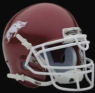 Arkansas Razorbacks RED Schutt NCAA College Football Authentic Team Mini Helmet