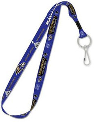 Baltimore Ravens Super Bowl 47 XLVII Champions Wincraft Sports MLB Team Logo Reversible Clip Lanyard