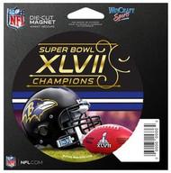 Baltimore Ravens Super Bowl 47 XLVII Champions Wincraft 4 inch Magnet