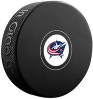 Columbus Blue Jackets NHL Team Logo Autograph Model Hockey Puck - Current Logo