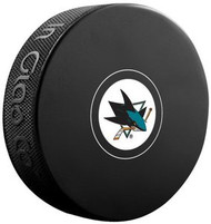 San Jose Sharks NHL Team Logo Autograph Model Hockey Puck - Current Logo