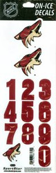 Arizona Coyotes Sportstar Officially Licensed Authentic Center Ice NHL Hockey Helmet Decal Kit #1