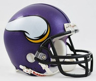 Minnesota Vikings Matte Purple Black Mask 2013 Riddell NFL Replica Mini Helmet