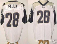 Marshall Faulk St. Louis Rams White Custom Adidas Licensed Mesh Souvenir NFL Jersey Size XL