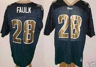 Marshall Faulk St. Louis Rams Blue Custom Adidas Licensed Mesh Souvenir NFL Jersey Size XL