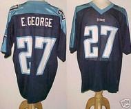 Eddie George Tennessee Titans Blue Custom Adidas Licensed Mesh Souvenir NFL Jersey Size XL