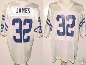free shipping 74a52 84276 Edgerrin James Indianapolis Colts White Custom Adidas ...