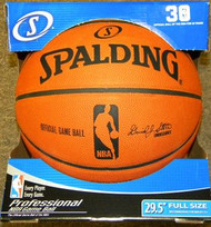 "Spalding ""Game Ball"" Official NBA Game Basketball Commissioner David Stern"
