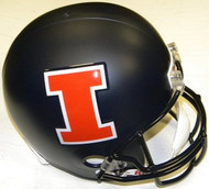 Illinois Fighting Illini MATTE Riddell NCAA Collegiate Deluxe Replica Full Size Helmet