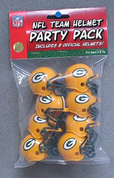 Green Bay Packers NFL Football Riddell 8 Gumball Helmet Party Pack Set