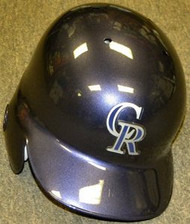 Colorado Rockies Rawlings Full Size Authentic Left Handed Batting Helmet - Right Flap Regular