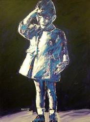 John F. Kennedy JFK Jr. Farewell Salute 36x48 John Stango Original Abstract Art Acrylic On Canvas Painting