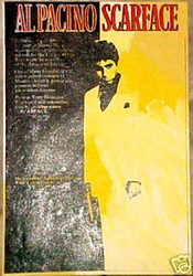 Al Pacino Scarface Tony Montana 22x32 Black Dark Yellow John Stango Original Abstract Art Acrylic On Canvas Painting