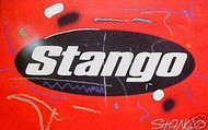 John Stango Official Trademark Logo Red 33x21 John Stango Original Abstract Art Acrylic On Canvas Painting