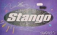 John Stango Official Trademark Logo Purple 33x21 John Stango Original Abstract Art Acrylic On Canvas Painting