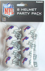 Buffalo Bills NFL Football Riddell 8 Gumball Helmet Party Pack Set