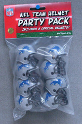 Detroit Lions NFL Football Riddell 8 Gumball Helmet Party Pack Set