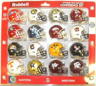 Southeastern Conference SEC 16-Pack NCAA Revolution Pocket Pro Set Florida, Alabama #15, Georgia, Kentucky, Arkansas, Auburn, Missouri, South Carolina, LSU, Mississippi, Tennessee, Vanderbilt, Mississippi State, Texas A&M & 2 SEC Helmets 2013-14
