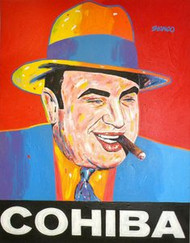 Al Capone Cohiba 41x52.5 John Stango Original Abstract Art Acrylic On Canvas Painting