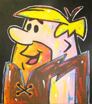 Barney Rubble The Flintstones 24x27 John Stango Original Abstract Art Acrylic On Canvas Painting