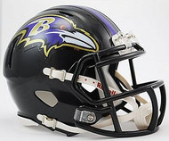Baltimore Ravens NFL Team Logo Riddell 3-Pack Revolution SPEED Mini Helmet Set