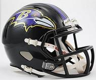 Baltimore Ravens NFL Team Logo Riddell 3-Pack Revolution SPEED Mini Helmet Set