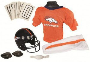 f8829868 Denver Broncos Franklin Deluxe Youth / Kids Football Uniform Set ...