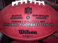 Super Bowl 49 XLIX Wilson Official NFL Authentic Game Football New England Patriots vs Seattle Seahawks