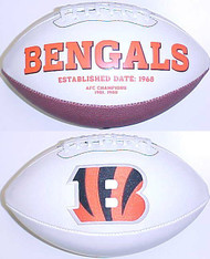 Cincinnati Bengals Rawlings Jarden Sports Signature NFL Full Size Fotoball Football Current Version - DEFLATED without Box/Pen