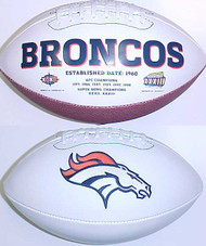 Denver Broncos Rawlings Jarden Sports Signature NFL Full Size Fotoball Football Current Version - DEFLATED without Box/Pen