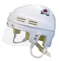 Colorado Avalanche NHL White Player Mini Hockey Helmet