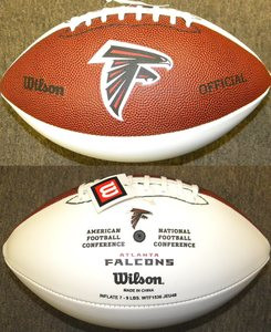 5bc86c3f9 Atlanta Falcons Official Wilson NFL Full Size Signature Model Football