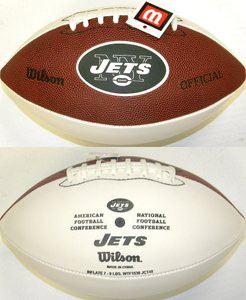 39b8ee9fe New York Jets Official Wilson NFL Full Size Signature Model Football ...